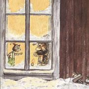 Новогодний сценарий детского праздника. Елка у Петсона и Финдуса