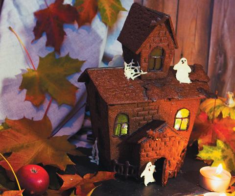 Как сделать пряничный домик своими руками: поделка на Хэллоуин