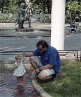 Аннушка с папой