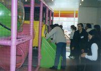 Игровая комната ( Наташа Кириенко с мужем Юрой в напряженном ожидании появления сына из трубы...)