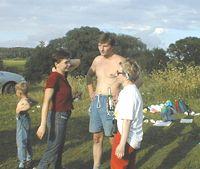 Модератор Лена с сыном Алексеем, Женя, КАТЕРина