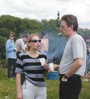 Элла Прокофьева с мужем