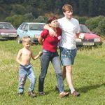 Модератор Лена с сыном Алексеем и Женя
