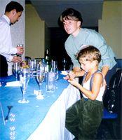 OLAV с сыном Женей