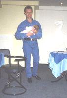 Алексей Повышев и с дочкой Лизой