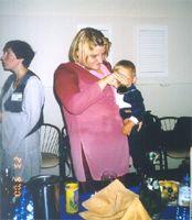 Женя Пайсон и Тамара с дочкой Лизой