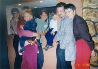 Анна Глухова, Лиза (на руках у мамы Тамары),  OLAV, Леонид (сын Екатерины Озеровой), Леший и Огневушка