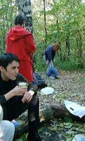 Огневушка, Ирис (спиной), Jan с сыном