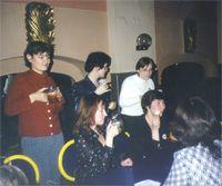 стоят: Ольга Ландау, ЧерниКа, Кузик, сидят: Ирка, Евгения Пайсон