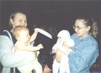 Кнопка (Аленка) с дочкой Галиной и Фунтик с дочкой Ириной