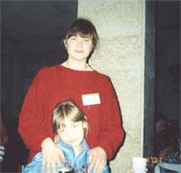 Калугина Наташа с дочкой Настей