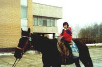 Антошка на лошади