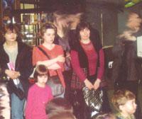 Три девицы под...Windows (Ольга Ландау, КАТЕРина, Женя Пайсон, в розовом - Маша, дочь Ольги Ландау, в правом нижнем углу - Тема, сын Жени Пайсон)