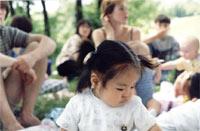 А это обладательница самой пышной прически среди малышей от 0 до года Нелечка (Матрешкина)