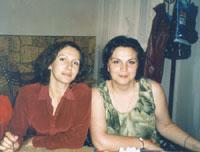 Александра (жена Лешего) и мадамчик пончик