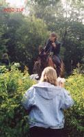 'Отдай лошадь, говорю!' Иришка (спиной), Ирина