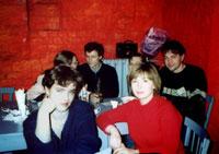 ЧерниКа и Лора К. На заднем плане - Emily с мужем Валерием, Модератор Лена и Denis