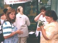Крошъка, Людмила (отвернулась), Ирка (прячется от камеры), Понечка