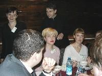 Белка и Оксана Безаева. На заднем плане - Модератор Лена и Denis