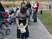 Лорис и ходячий Егор, на заднем плане муж КатиШ, Биги, Клякса и Поля