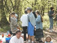 Наташа с сыном, сестра Emily, Emily и ее дочка Аленка на переднем плане
