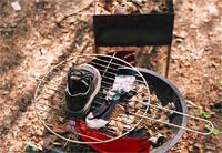 А вы думали, что на барбекюшнице только мясо-гриль можно готовить? А это еще и прекрасное устройство для просушивания обуви вашего сорванца, влезшего в речку в то время, как вы предавались чревоугодию! :)