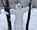 Блиц: фигуры из снега