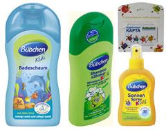 Косметический набор Бюбхен и подарочня карта от сети детских магазинов Академия на 300руб.