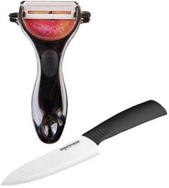 Нож кухонный Samura и керамическая овощерезка