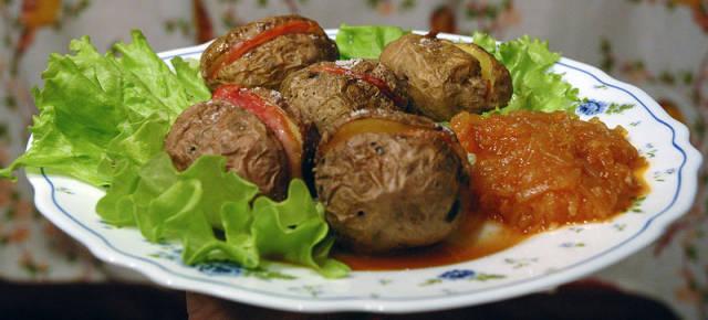 Запеченый картофель с беконом