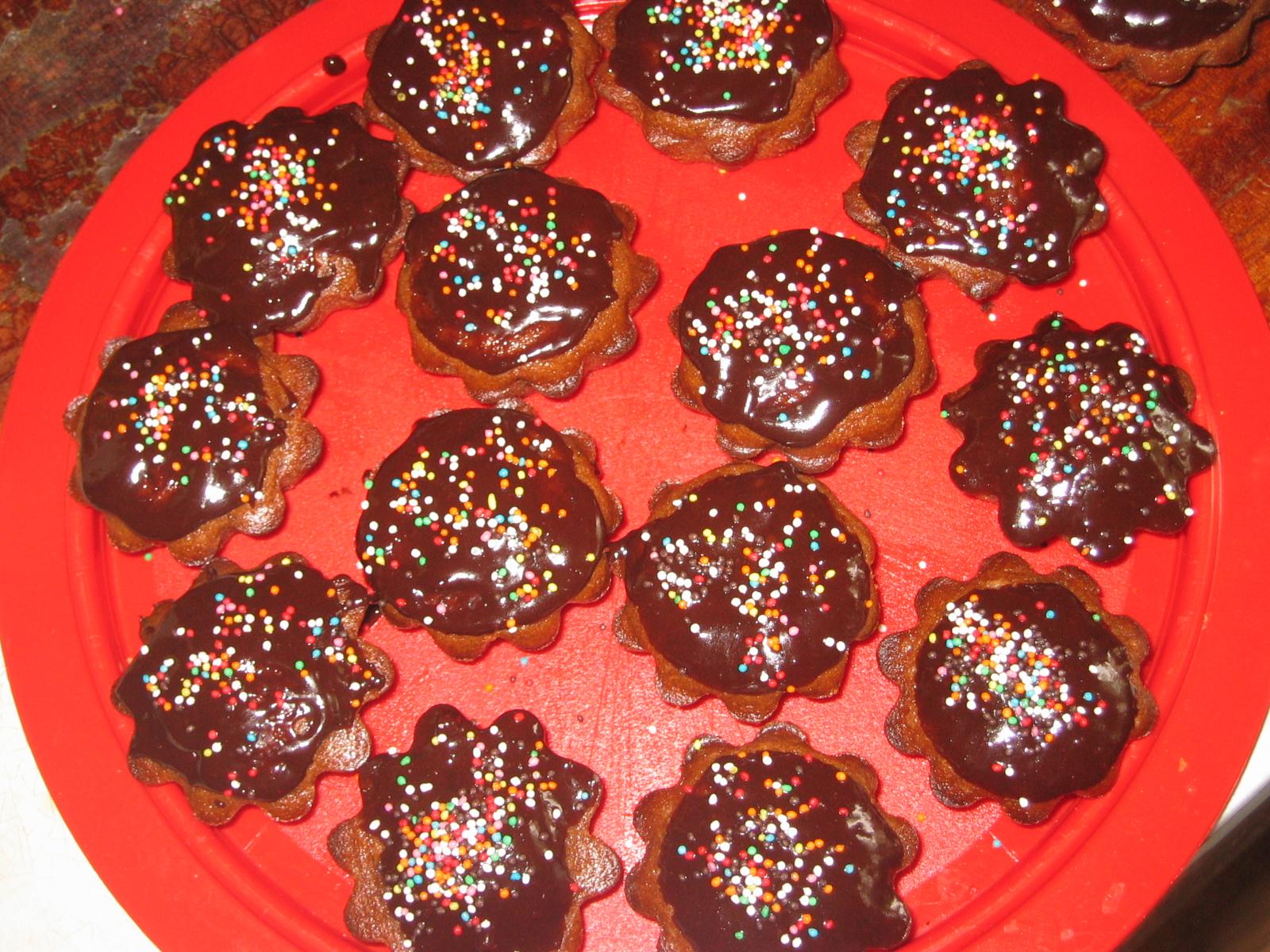 Шоколадно-кофейные кексики