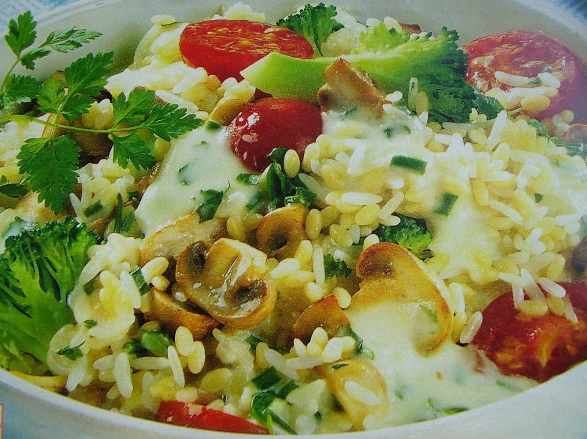 Овощное рагу с сырным соусом