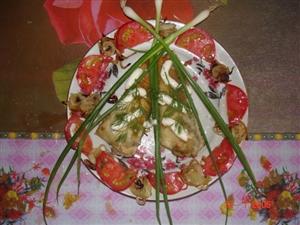 'Нямнямка'-Фаршированная рыбка с пикантным соусом