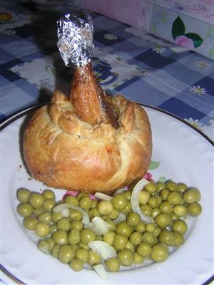 'Куриная ножка в 'мешочке' с картошкой'