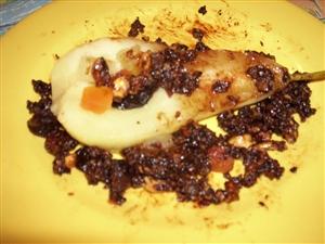 Груши в сиропе с шоколадной глазурью