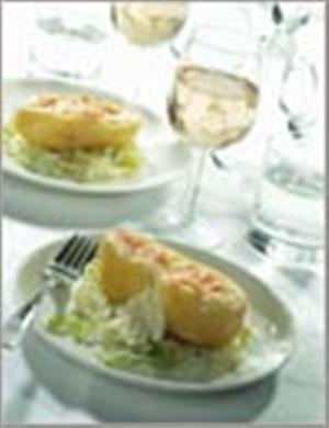 Картофель-пашот, начиненный сыром