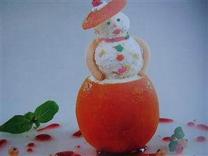 Апельсиновый снеговик
