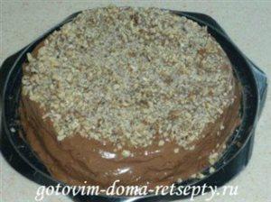 Шоколадный бисквитный торт с зефиром