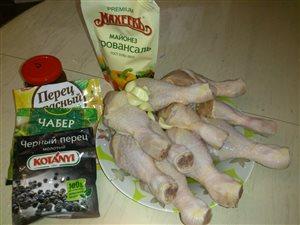 Сочные куриные голени в майонезе