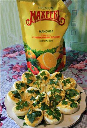 Яичная закуска с грецкими орехами