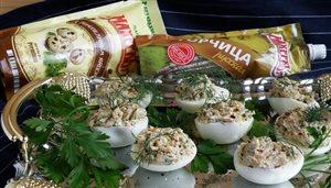"""Фаршированные яйца с майонезом и горчицей """"МахеевЪ"""""""