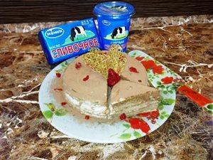 «Блинный торт по мотивам тирамису»