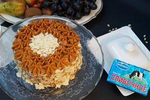 Маковый торт с кремом из вареной сгущенки