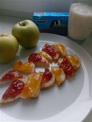 Бутерброды с маслом 'ЭкоМилк'