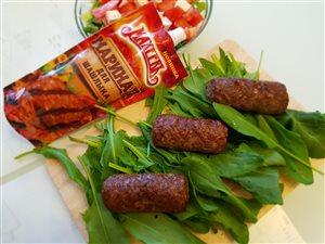 Люля-Кебаб из говядины с зеленью