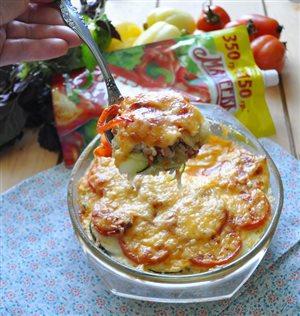 Кабачково-мясная запеканка