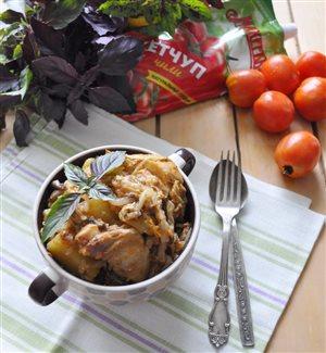 Бигус с курицей и грибами