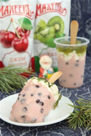 Мороженое из зефира 'Арбуз'