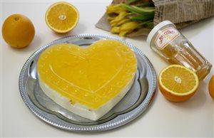 Десерт «Апельсиновое сердце» с джемом Махеев