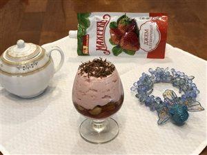 Нежный десерт с клубничным джемом ТМ 'МахеевЪ'